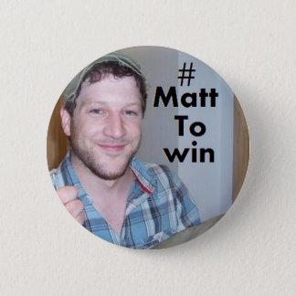 Matt Cardle to win x Factor 2010 6 Cm Round Badge