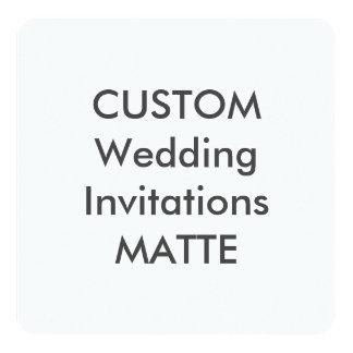 """MATTE 5.25"""" Square Wedding Invitations"""