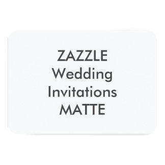 "MATTE 5"" x 3.5"" Wedding Invitations"