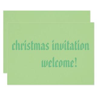 matte 8.9 cmx12.7 cm rsvp christmas invitation