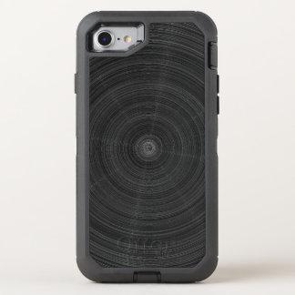 Matte Black Circle Steel Shatter OtterBox Defender iPhone 8/7 Case