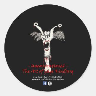 """Matte Black """"Unconventional"""" Logo Sticker #2"""