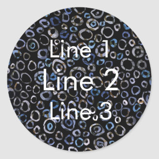 Matte or Glossy Stickers in Circles Slate Charcoal