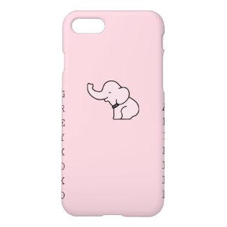 matte pink arielle greyxoxo elephant iPhone 7 case
