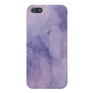Matte Purple Quartz Crystal IPhone 5 Case