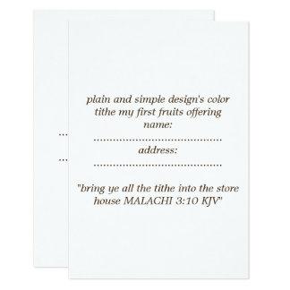 matte standard  white envelope included card