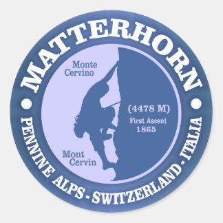 Matterhorn (Alps) Classic Round Sticker