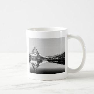 Matterhorn mountain black and white landscape coffee mug