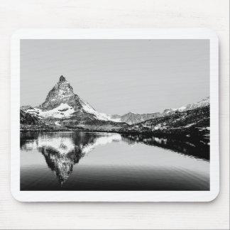 Matterhorn mountain black and white landscape mouse pad