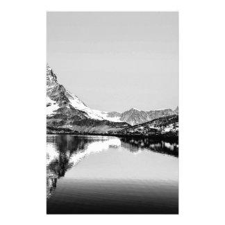 Matterhorn mountain black and white landscape stationery