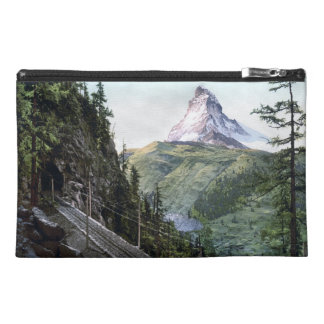 Matterhorn Photochrom Print Travel Accessory Bag