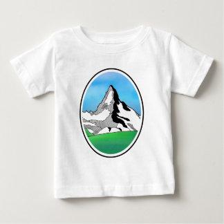 Matterhorn Switzerland Line art watercolor Baby T-Shirt