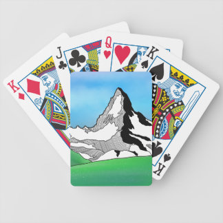 Matterhorn Switzerland Line art watercolor Bicycle Playing Cards