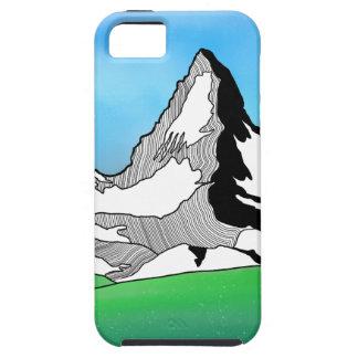 Matterhorn Switzerland Line art watercolor iPhone 5 Cover