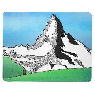Matterhorn Switzerland Line art watercolor Journal