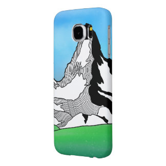Matterhorn Switzerland Line art watercolor Samsung Galaxy S6 Cases
