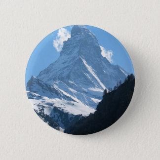 Matterhorn, Zermatt 6 Cm Round Badge