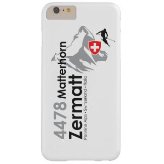 Matterhorn-Zermatt skiing Barely There iPhone 6 Plus Case
