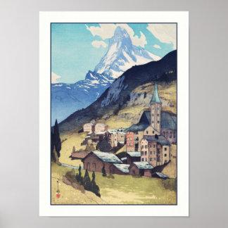 Matterhorn, Zermatt Switzerland Vintage Art Print