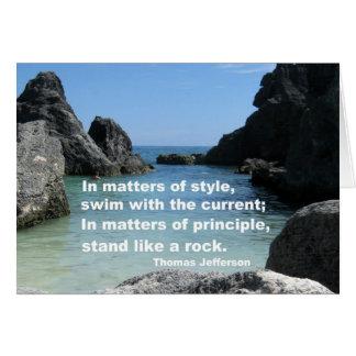 Matters of principle... card