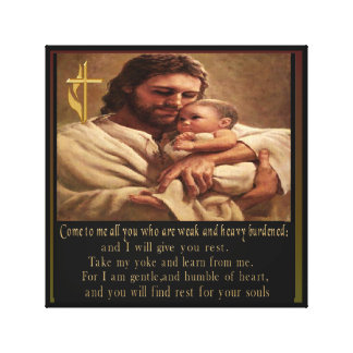 Matthew 11:28 canvas canvas print