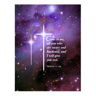 Matthew 11:28 postcard
