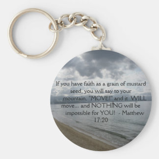 Matthew 17:20 - Motivational Inspirational Quote Key Ring