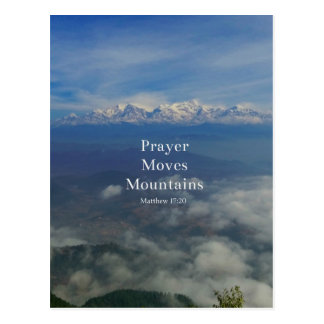 Matthew 17:20 Prayer Moves Mountains Postcard