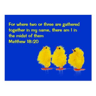 matthew 18:20 postcard