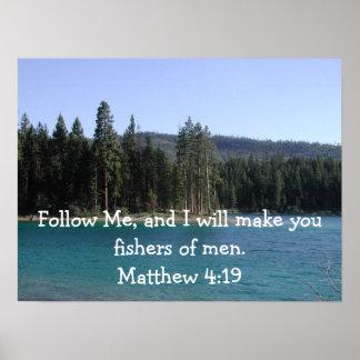 Matthew 4:19 poster