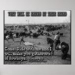 Matthew 4:19 Simplified Cowboy Version Poster