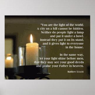 Matthew 5:14-16  Light of the World POSTER