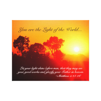 Matthew 5 14-16 You are the Light of the World Canvas Print