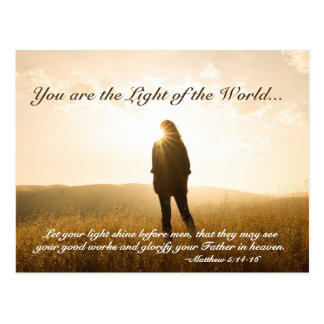 Matthew 5 14-16 You are the Light of the World Postcard