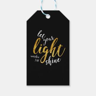 Matthew 5:16 - Shine Your Light Gift Tags