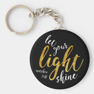 Matthew 5:16 - Shine Your Light Key Ring
