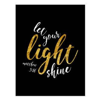 Matthew 5:16 - Shine Your Light Postcard