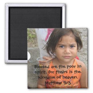 Matthew 5:3 magnet