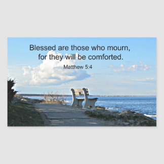Matthew 5:4 Blessed are those who mourn, for.... Rectangular Sticker