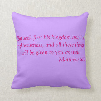 Matthew 6:33 Pillow