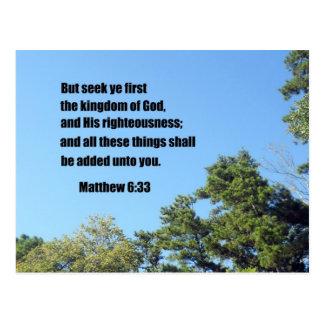 Matthew 6:33 postcard