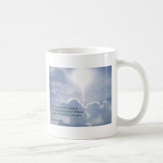 Matthew 6:33 Shining Clouds Basic White Mug