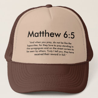 Matthew 6:5 hat