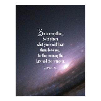 Matthew 7:12 postcard