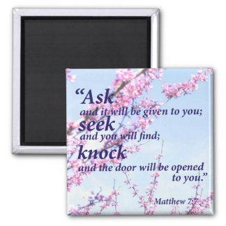Matthew 7:7 magnet