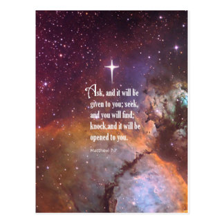 Matthew 7:7 postcard