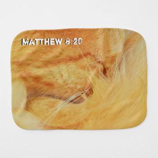 Matthew 8 : 20 burp cloth
