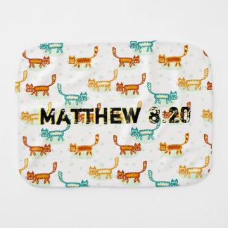 Matthew 8 : 20 ml burp cloth