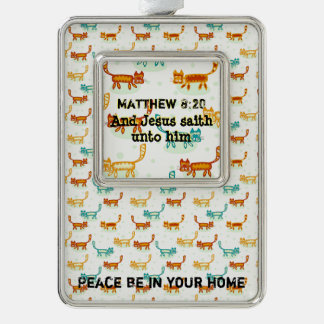Matthew 8 : 20 ml silver plated framed ornament