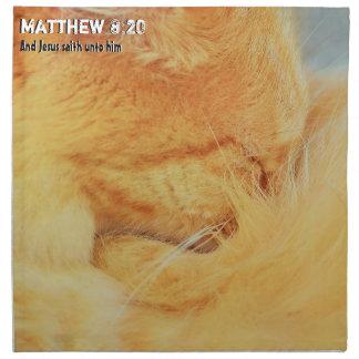 Matthew 8 : 20 napkin